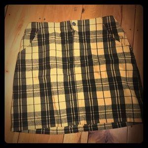 Hollister plaid miniskirt